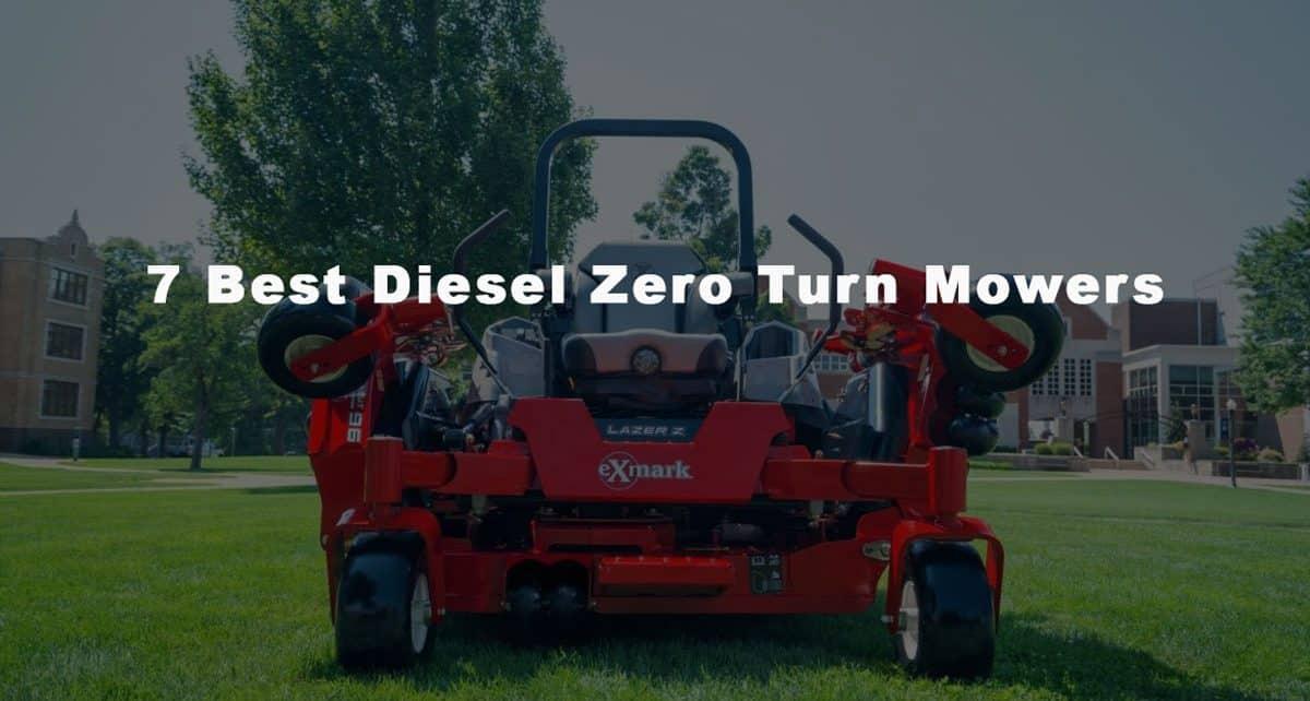 Best diesel zero turn mowers