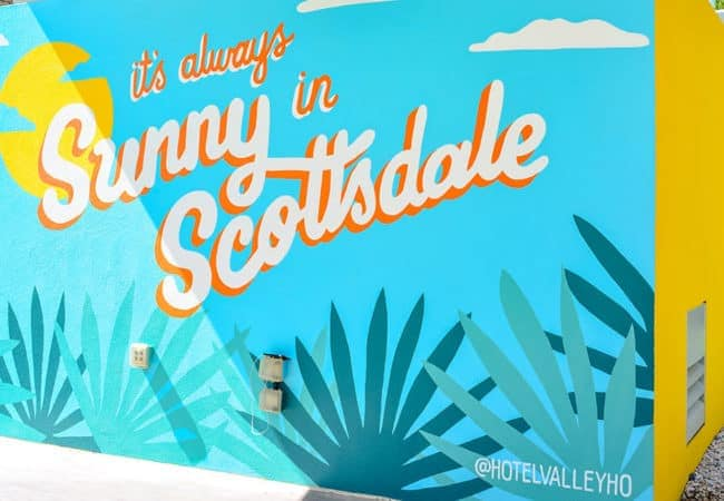"""Commit   """"sunny In Scottsdale"""" sign"""