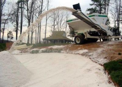 440 Turf Tender filling bunker at Kinloch Golf Club