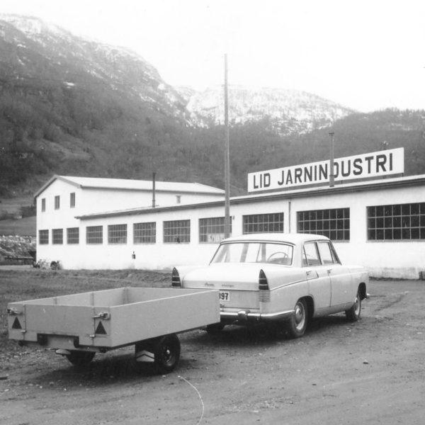 Tilhenger: Den aller første modellen av Dalen biltilhengere.