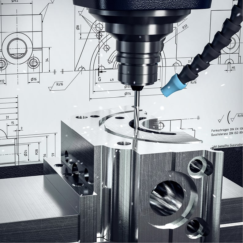 Når prototyper skal utvikles er det godt å ha egen maskinavdeling med mange CNC-styrte maskiner. Disse maskinene kan arbeide helt ned på µm millimeter, og gir en unik mulighet samt nærhet til prosessen.
