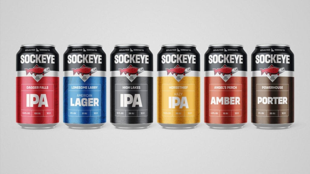 sockeye brewing can lineup