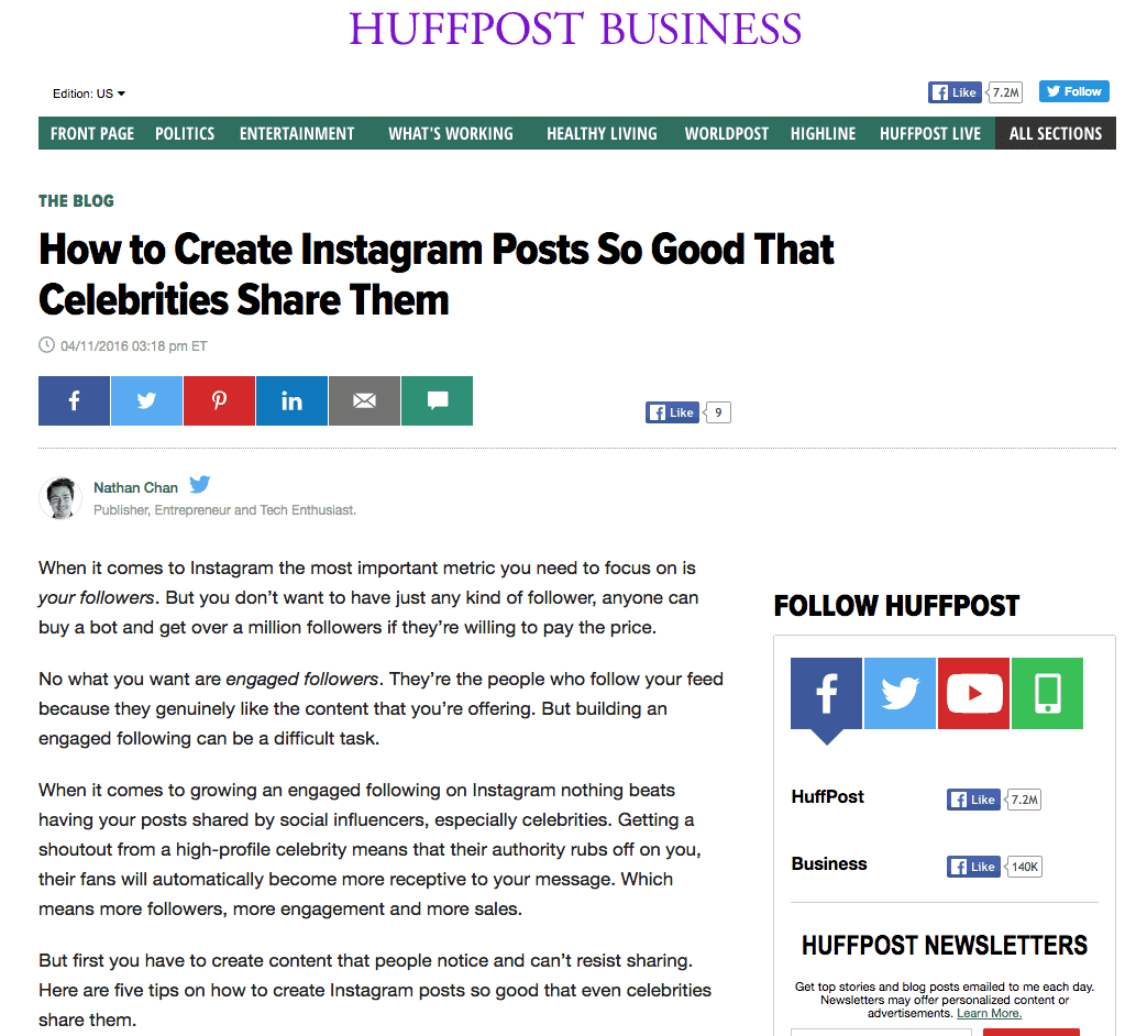 product launch huffpost business