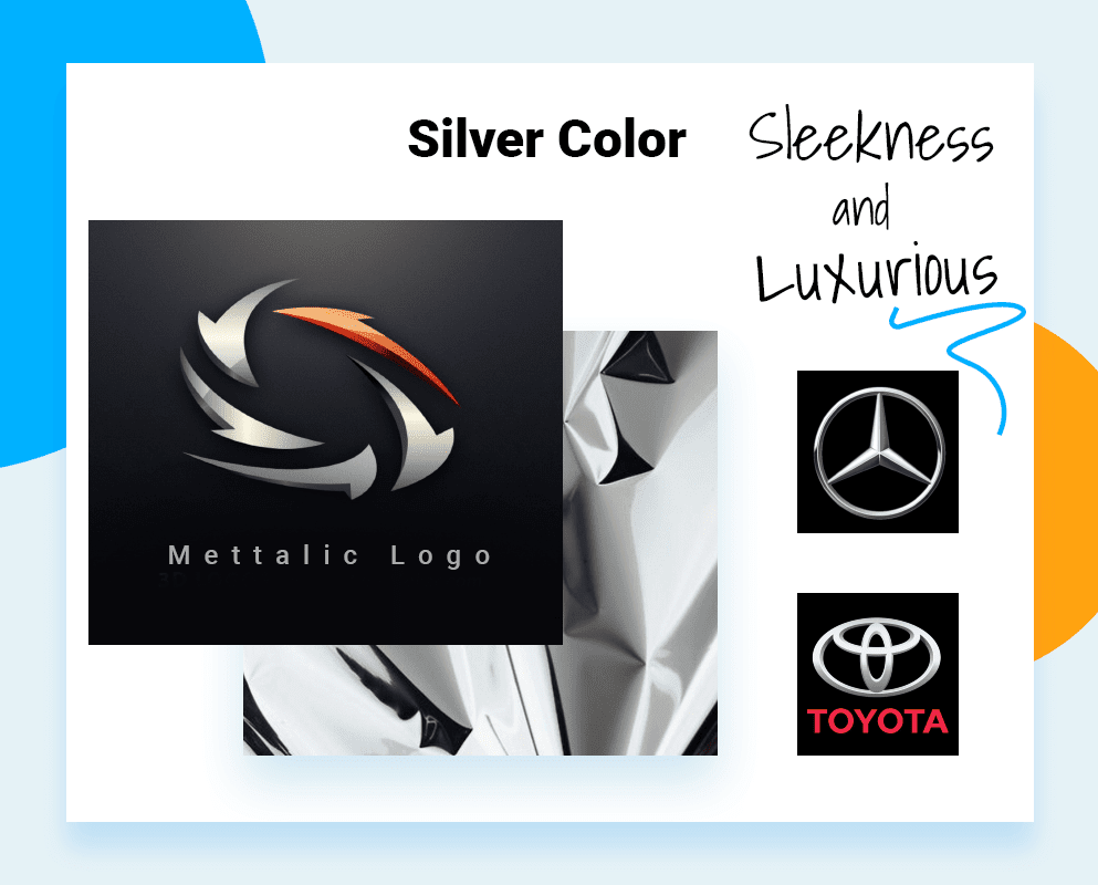 best logo colors - example sleekness and luxurious
