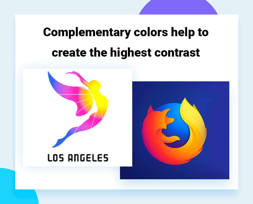 logo color schemes with complementary colors contrast