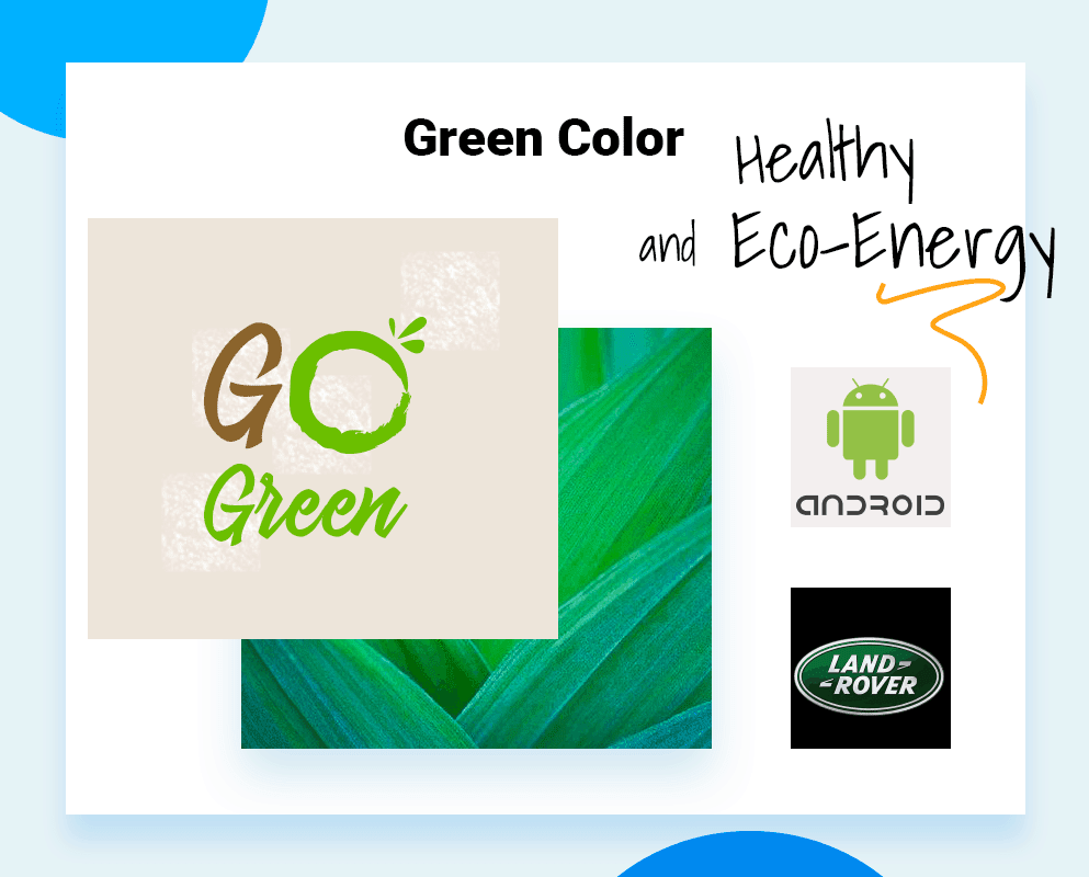 best logo colors green color example