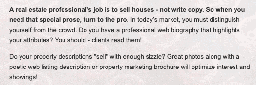 Freelancer Valerie Haboush tailored her website and marketing materials to target audience—real estate companies