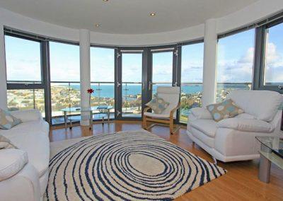 The living area @ 10 Horizons, Newquay