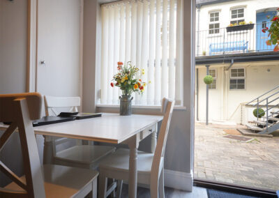 The dining area at 32 Trinity Mews, Torquay