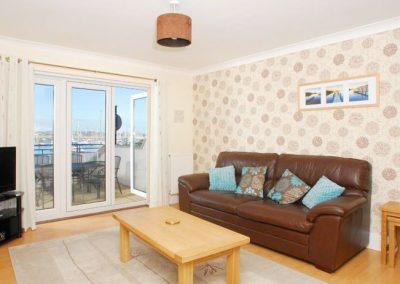The living area @ 39 Moorings Reach, Brixham