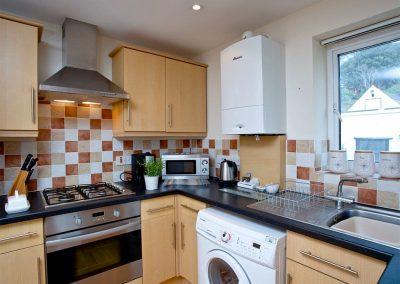 The kitchen at 4 Richmond House, Dawlish