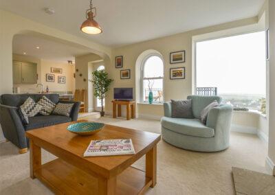 The living area at Atlantic View, Westward Ho!