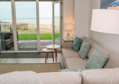 The living area at Chapel Rock View, Perranporth