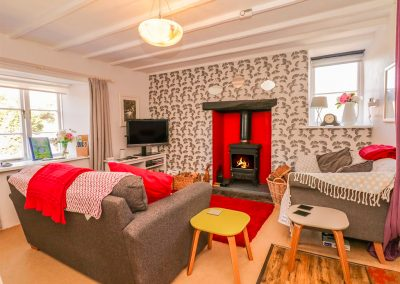 The living area at Florries, Barbrook