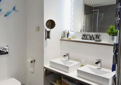 The bathroom at Gwel An Porth, Falmouth