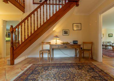 The hallway at Hampden, Roserrow, Polzeath