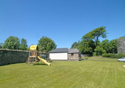 The shared garden at Kettle's On, Higher Churchtown Farm, Tresmeer