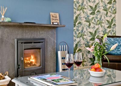 The living area at Mallock, Cockington Cottages, Cockington