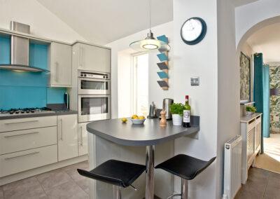 The kitchen at Mallock, Cockington Cottages, Cockington