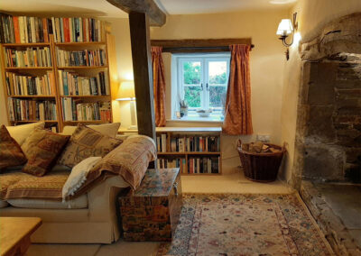 The living area at Old Church House, Brayford