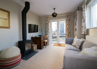 The living area at Oyster Bay, Port Isaac