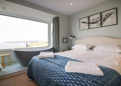Bedroom #1 at Oyster Bay, Port Isaac
