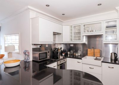 The kitchen at Rock House, Trebarwith Strand