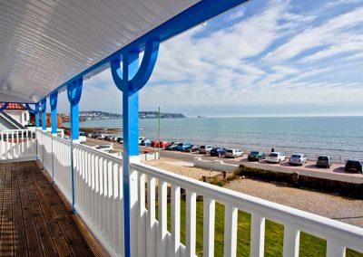 The first floor balcony at The Beach House, Paignton