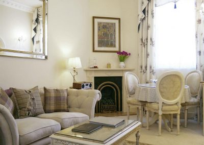 The living area at The Regency Apartment, Torquay