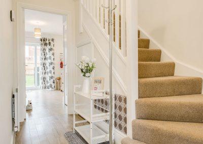 The hallway & stairs at Woodside, Bideford