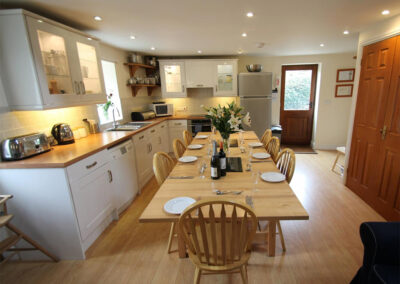 The kitchen & dining area at Yenworthy Mill, Oare