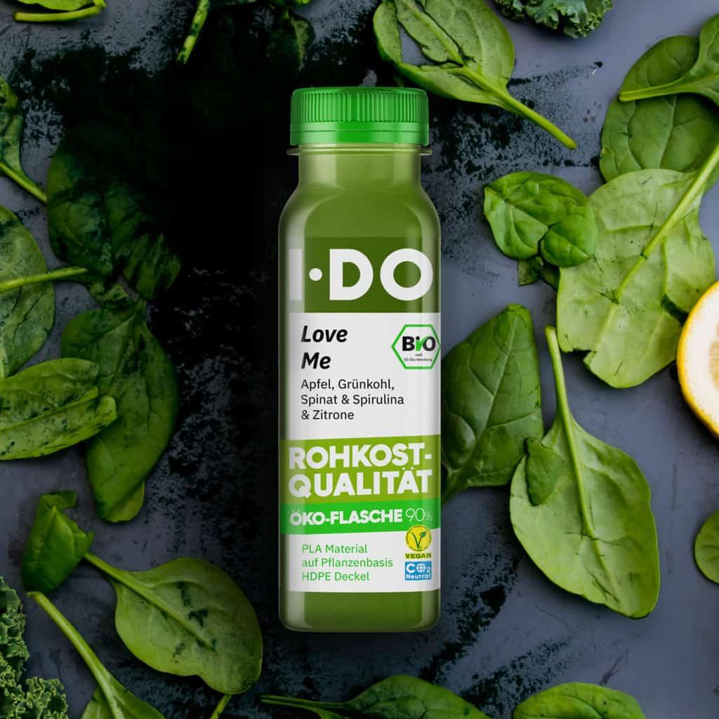 I·DO Love Me, Grüner Saft in der Öko-Flasche 90%