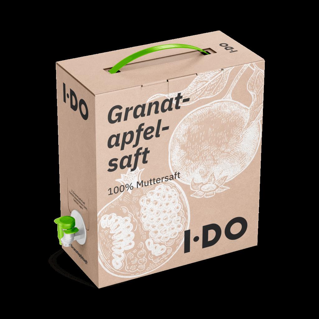 3L Bio Granatapfelsaft aus kretischen Granatäpfeln in einer Bag-in-Box zum kaufen. Immer in kühlfrischer Rohkostqualität.