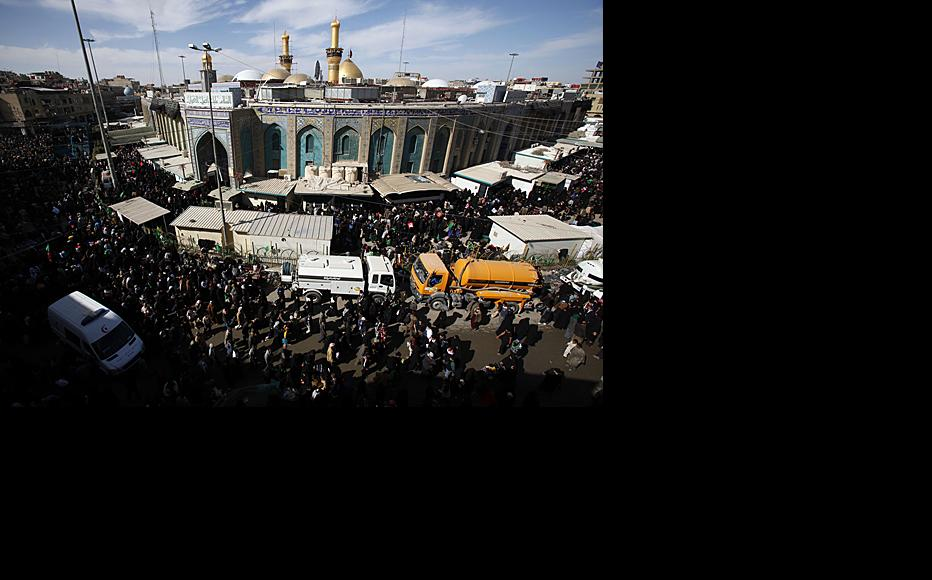 Shia pilgrims at Karbala have been attacked many times by suspected Sunni militants. Iran's rising influence in Iraq will test the relationship between the two sects. Photo by Metrography.