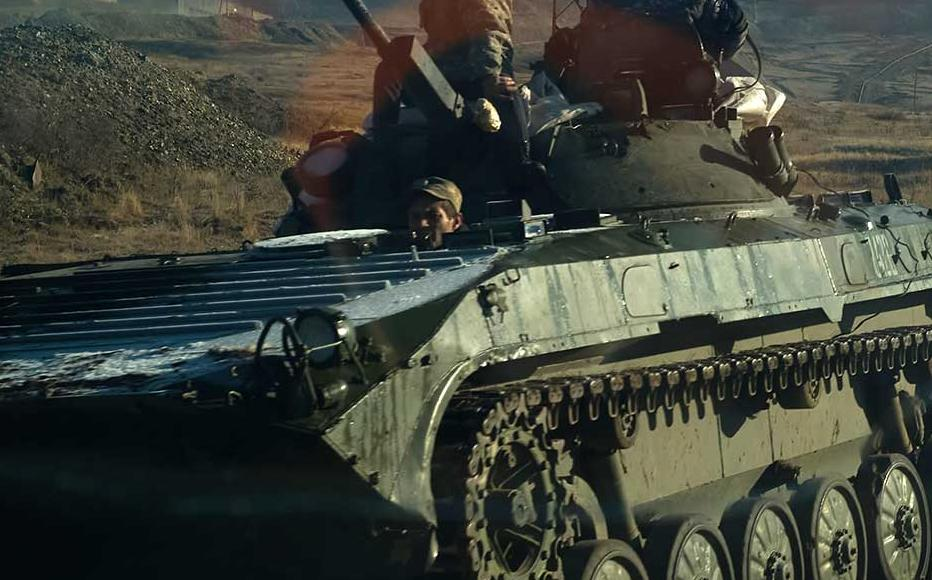 Armenian tanks leave Nagorny Karabakh following the end of the war with Azerbaijan on November 12, 2020.