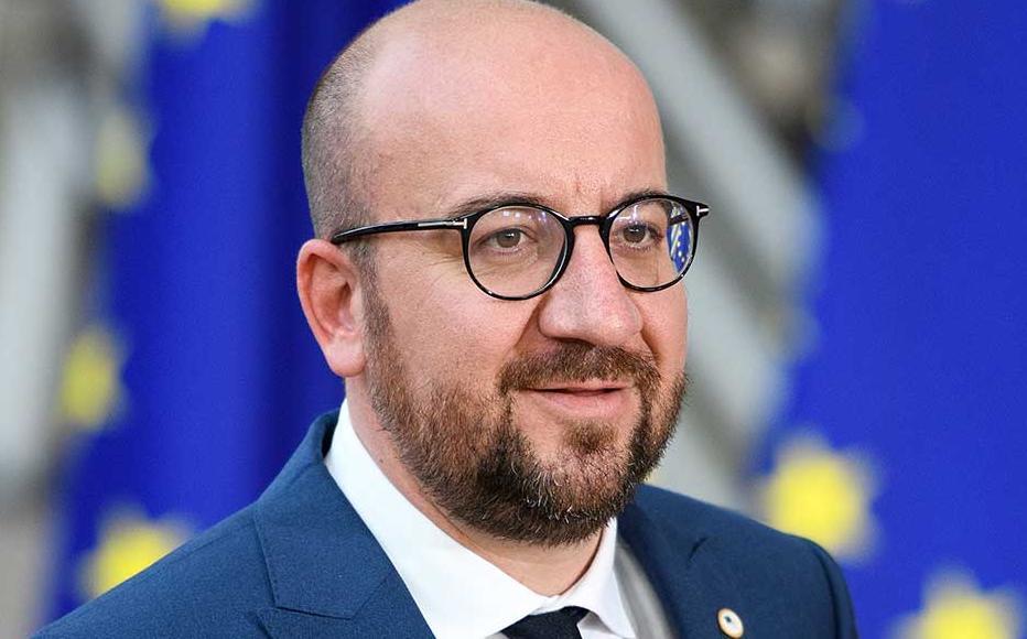 European Council president Charles Michel.