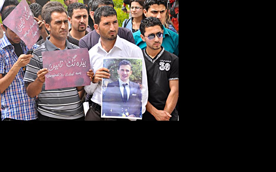 Recent demonstration by students in Sulaimaniyah over killing of journalist. (Photo: Metrography - Sartip Osman)