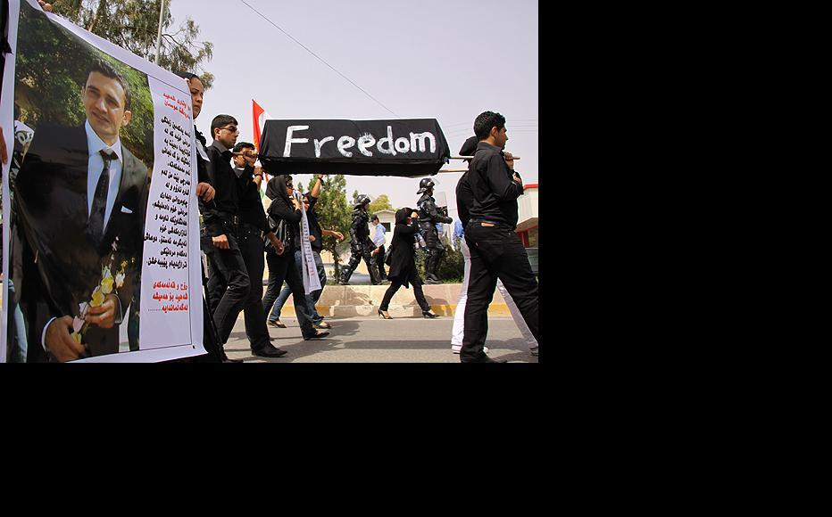 The killing of Sardasht Osman, a student journalist, sparked unprecedented street protests in Iraqi Kurdistan. (Photo: Rafeq Shukri/Metrography)