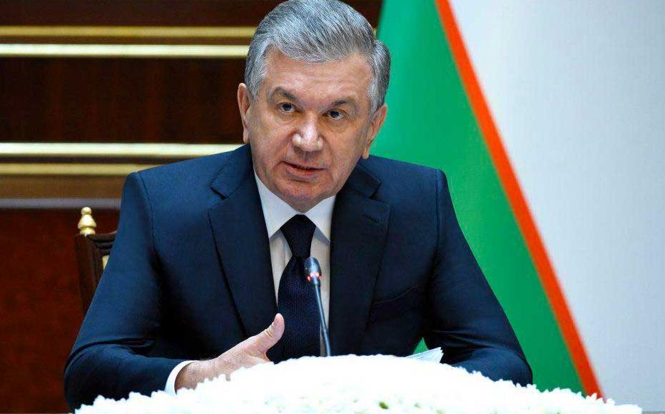 Uzbek President Shavkat Mirziyoyev.