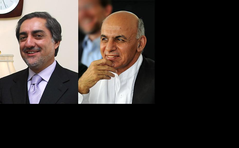 Abdullah Abdullah (left) and Ashraf Ghani Ahmadzai. (Photos: US embassy Kabul/Flickr)