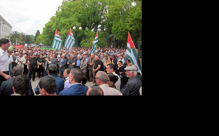 Protests in Abkhazia have forced the president to step down. (Photo: Anaid Gogoryan)