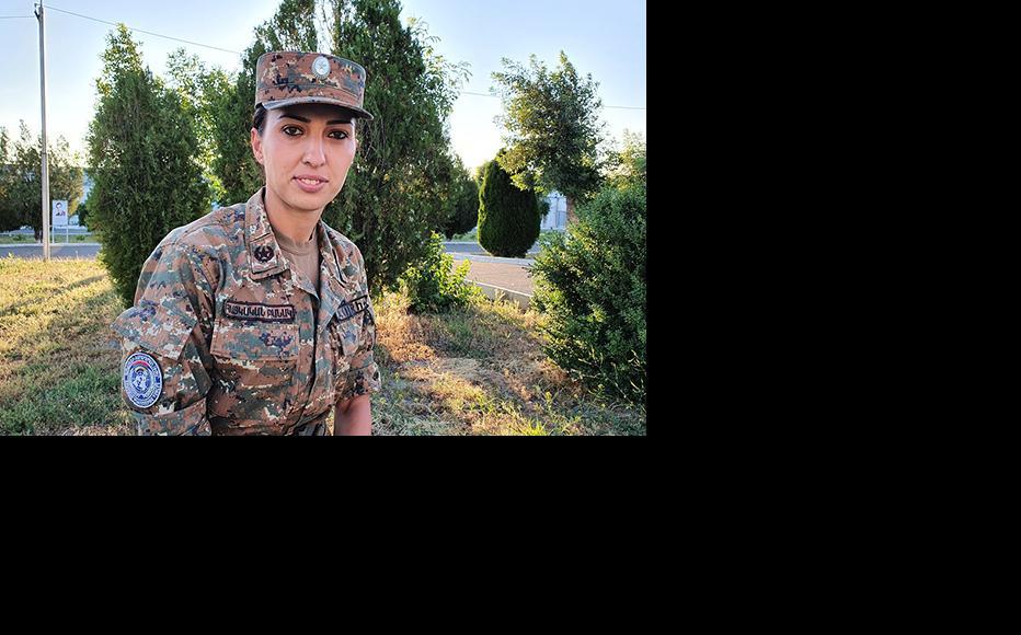 Ani Ovannisyan pictured near her base. (Photo: Arshaluys Mghdesyan)