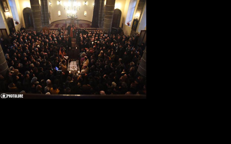 Funeral of six-month-old Seryozha Avetisyan at St. Nshan Church in Gyumri, (Photo: Photolur agency)