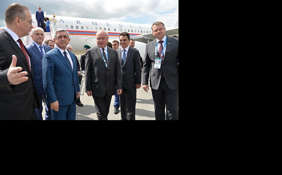 Former Armenian president Serzh Sargsyan, seen here in a photo from 2015. (Photo: Vladimir Pesnya/Host Photo Agency/Ria Novosti via Getty Images)