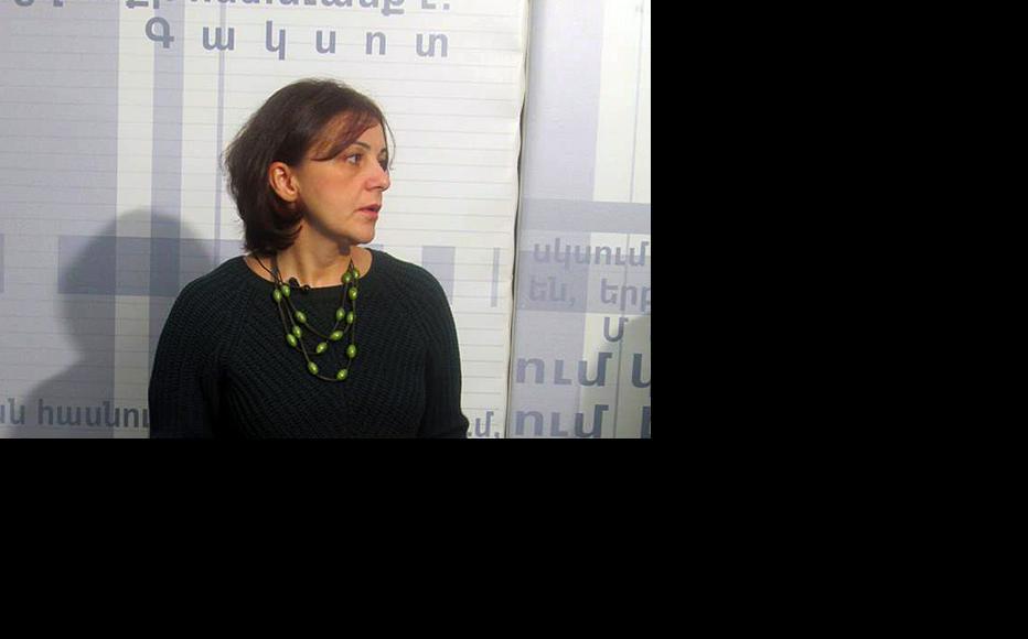 Sona Ayvazyan of Transparency International's Armenia branch. (Photo: Media Centre, Yerevan)