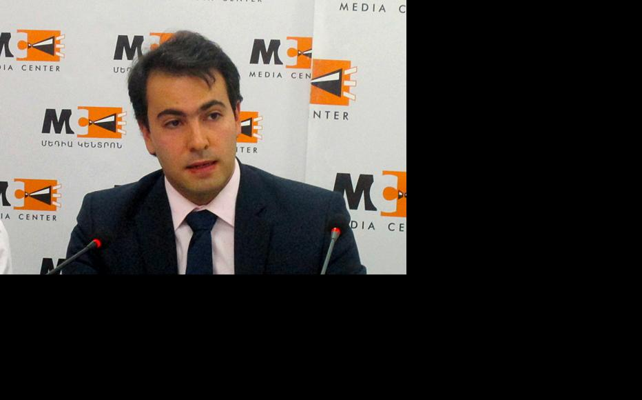 Tigran Yegoryan of the Europe in Law Association in Armenia. (Photo: Media Centre, Yerevan)