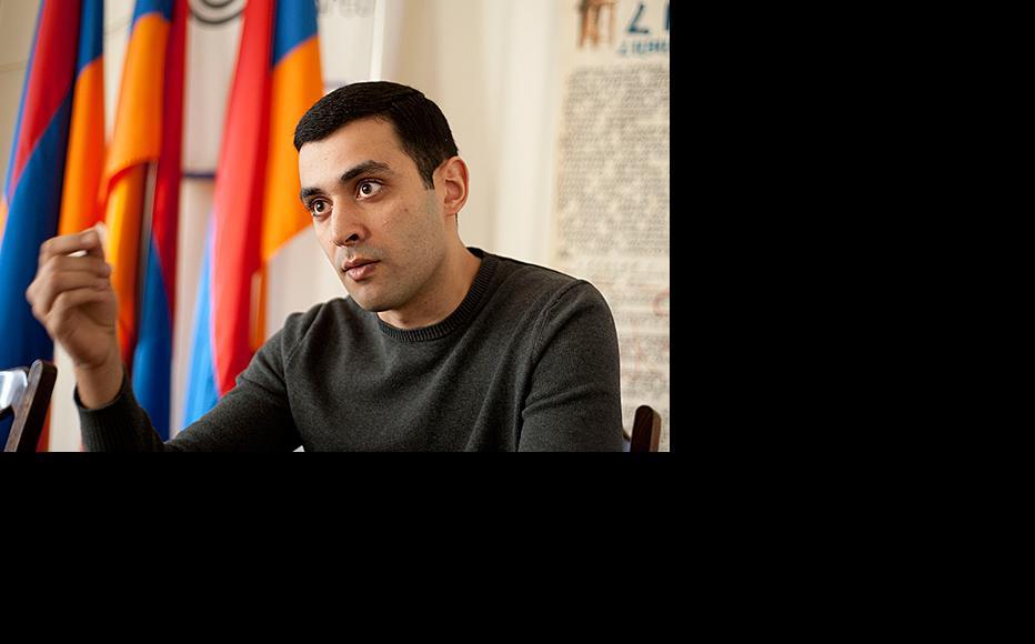 Areg Gevorgyan, head of public affairs for the opposition Armenian National Congress. (Photo: Nazik Armenakyan)