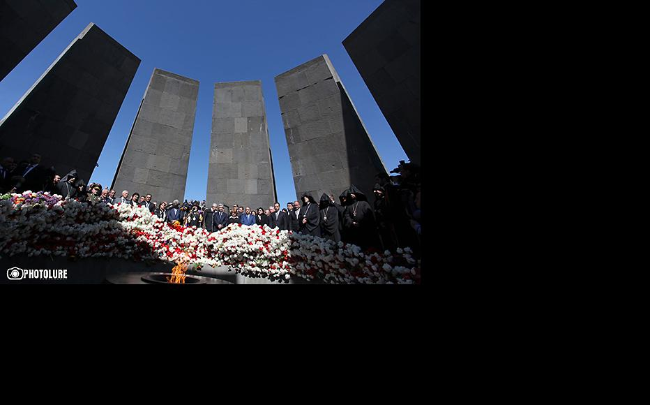 Commemoration at the Armenian Genocide Memorial in Yerevan, April 24, 2013. (Photo: Photolure agency)