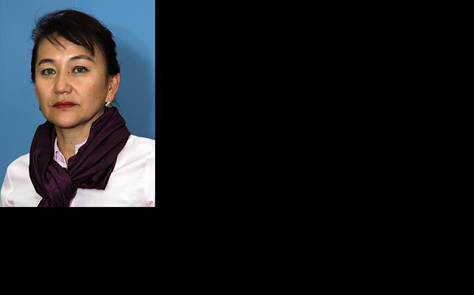 Kyrgyz politician Aynuru Altybaeva. (Photo courtesy of A. Altybaeva)