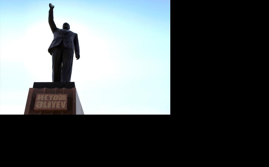 The Heydar Aliyev statue that was defaced. (Photo: Shahin Rzayev)